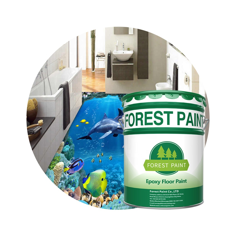 OEM 3d liquid resin self leveling floor paint 3d epoxy resin <strong>coating</strong> for floor