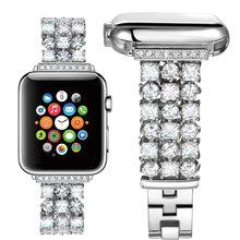 Ремешок для часов apple watch, роскошный браслет из нержавеющей стали для apple watch 5, 4, 40, 44 мм, 3, 2, 1, 42, 38 мм(China)