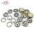 Silver color 12MM brass prong pearl snap button with color pearl