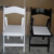 Wedding white resin wedding chair chairs folding