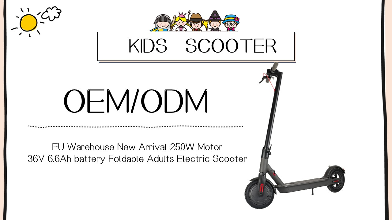 2020 Hot Sale 350W Folding Electric Scooter 36V Aluminum Alloy 36V6.6Ah Battery  for office worker