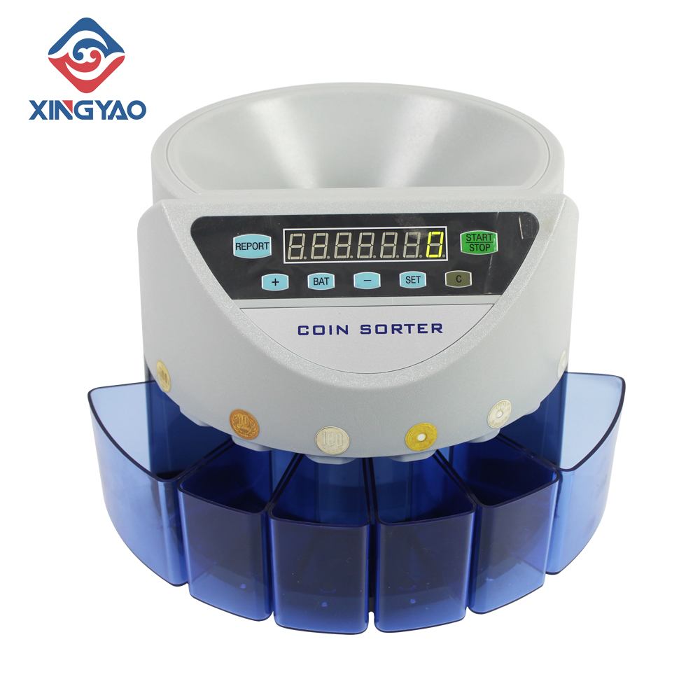 Value Coin Sorter/Counter For JPY/MYR/USD/GPB/PHP/TWD/AED/EUR Coins Counting Machine Customization Japanese Coin Sorter/Counter