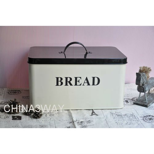 Vintage kitchen wooden bread bin with cutting board