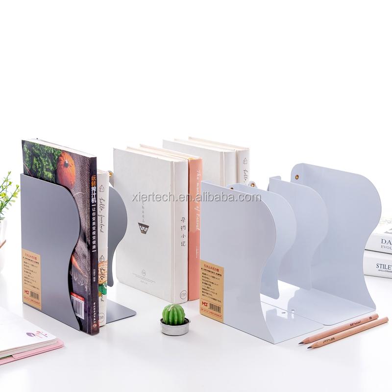 Sujetalibros Extensi/ón de la moda Soporte de libro de escritorio ajustable Estante Estante Soporte organizador Estanter/ía Sujetalibros para el hogar de la oficina de la escuela Bianco
