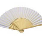 Fan Paper Folding Folded Paper Fan Wholesale Custom Personal Bamboo Hand Fan Paper Folding Hand Fan Bamboo