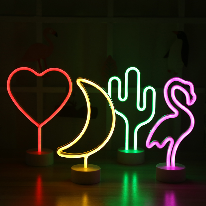 Table led Rainbow love LED Lamp sign for Wedding Party Supplies