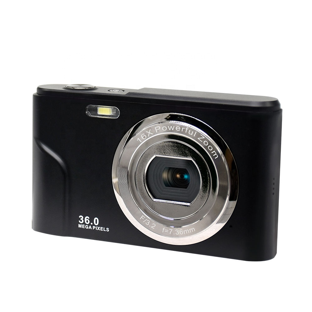 CMOS sensor point and shoot digital camera with 2.4 inch IPS screen up to 36MP