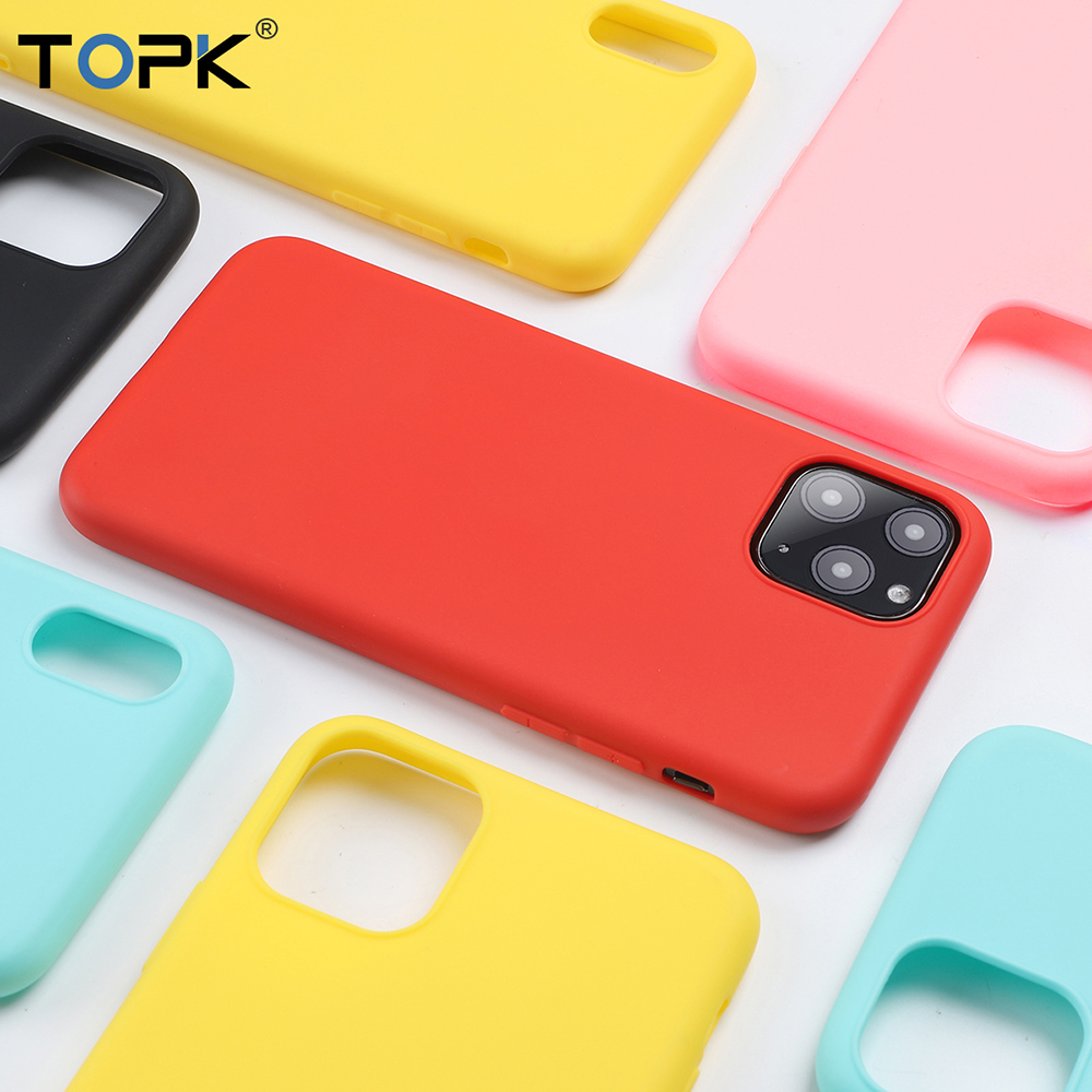 TOPK Soft Thin Anti-knock Candy Color TPU Phone Case for iPhone 11 Pro <strong>Max</strong>