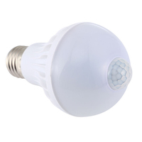 led bulb raw materials with b22 lightweight 85-265v pir motion human sensor bulb