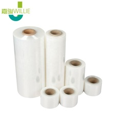 Günstige Hand Stretch Wrap Film Kunststoff Wrap 20 Mic Cast Produktion Rotierenden Griffe Pe Hand Rolle 400X450 Mm stretch Film