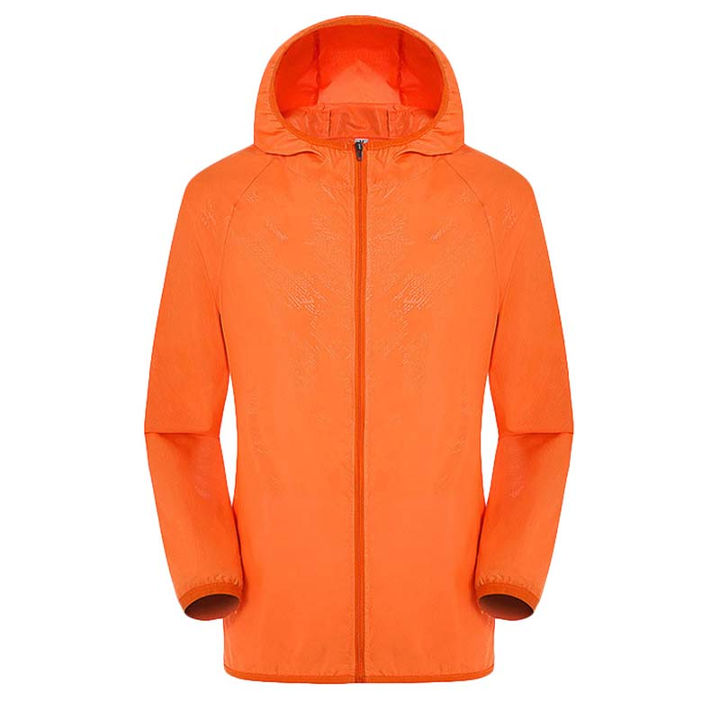New Outdoor Sports Skin clothes  Good Quality Thin Quick Dry Running Jacket Solid quick drty Hooded