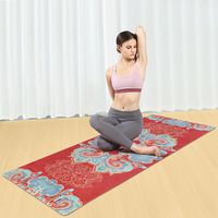 Eco Friendly Custom Print Personality Suede Fabric Natural Rubber Cotton Yoga Mat
