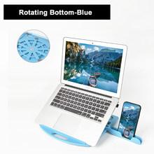 Складная подставка для ноутбука с поворотом на 360 градусов, подставка для ноутбука Macbook Air Pro hp, охлаждающий кронштейн с держателем для телефо...(Китай)
