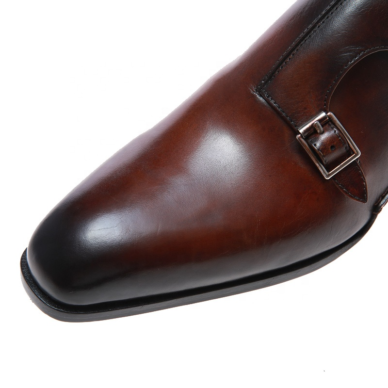 Brown charm height increasing sexy private label manufacturers boots leather big size monk shoes for men