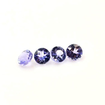 Round cut stone small size 2mm tanzanite for jewelry