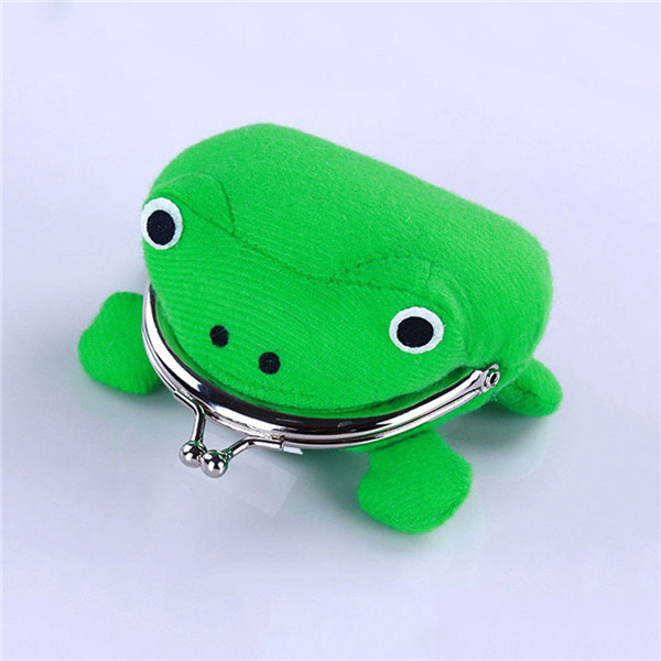 product-1PCS Frog Shape Cosplay Green Animal Bag Coin Purse Wallet Soft Furry Plush Purse Gift Smart