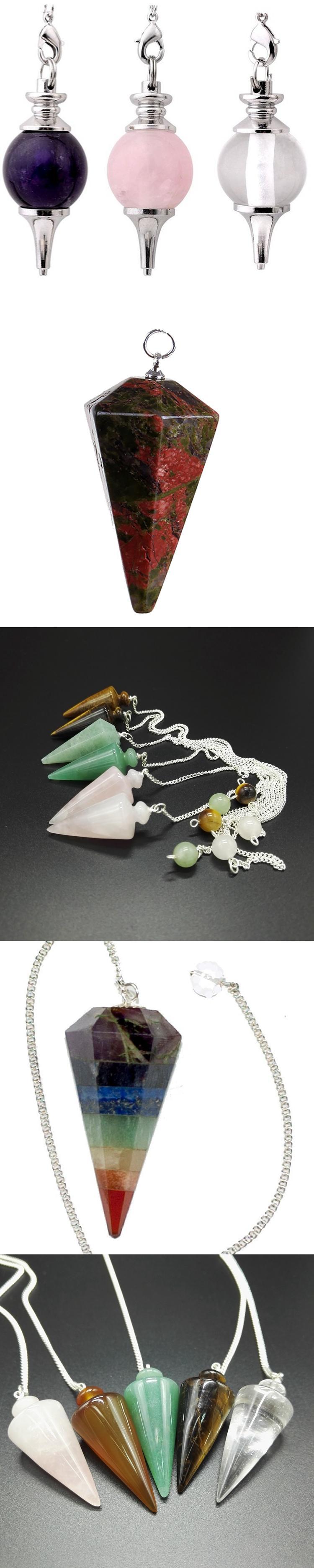 Wedding souvenirs guests crystal pendulum pendant wholesale gemstone