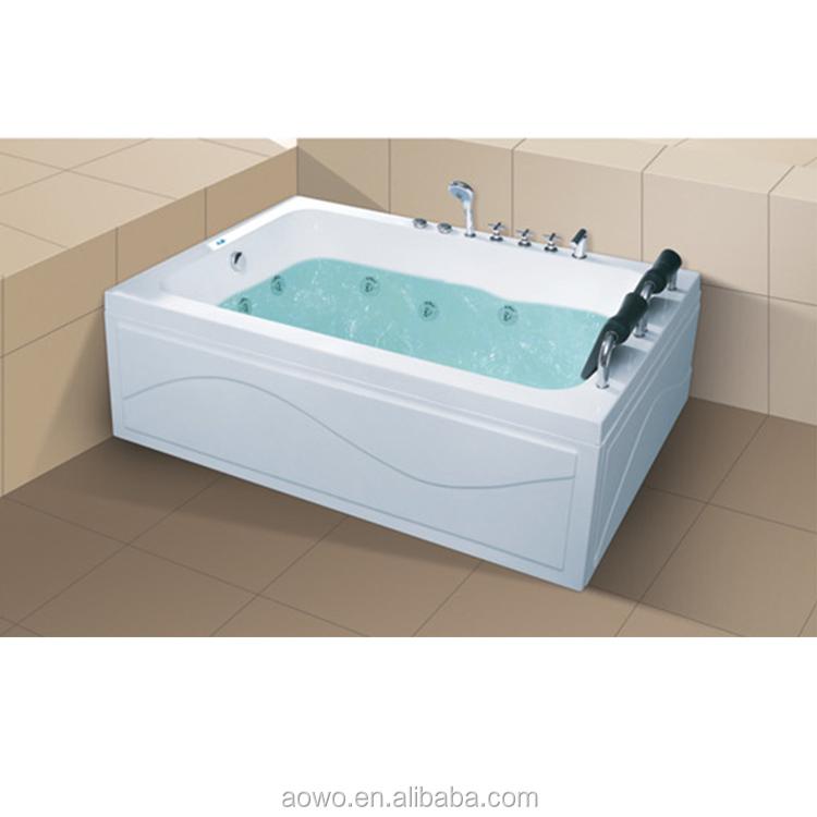 pure acrylic waterfall massage bathtub jakuzzy double whirlpool 2 person bath hot tubs with pillow