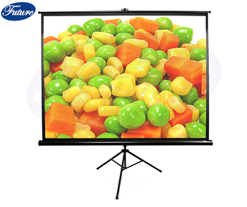84 inch Tripod Projector Screen  Indoor and Outdoor Projection Screen for Movie or Office Presentation