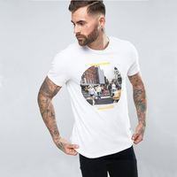 High Quality Xiamen 3D Direct Printing Low Moq Printed Mens White T Shirts In China
