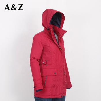 High quality customize polyester lady light weight winter jackets