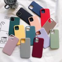 Custom Design Candy Color 1.5Mm Tpu Silicone Phone Cases For For Iphone Xs 11 Pro Max Xr X Estuches Para Celular