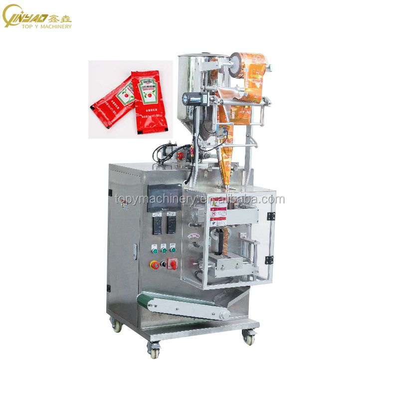 Automatic Liquid Ketchup paste shampoo fruit Juice water tomato Sauce Sachet Packing Machine