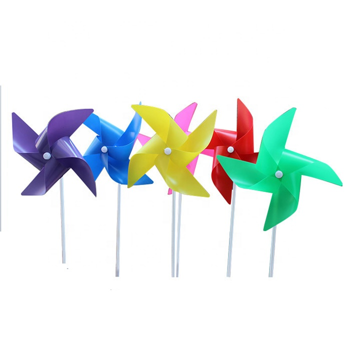 Customized Size Classics Diy Plastic Toy Windmills For Kids