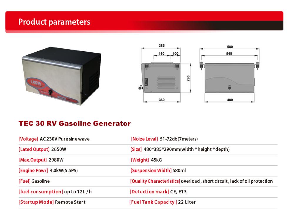 Medical technology vehicle generator 3kw