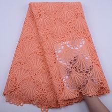 Гипюровая кружевная ткань в африканском стиле белого цвета, 2020, высококачественные отверстия, водорастворимый шнур, вечерние ткани для жен...(Китай)