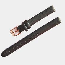 Ремешок для часов Женский, из кожи ручной работы с пряжкой из розового золота, Аксессуары для браслета, 10 мм(China)