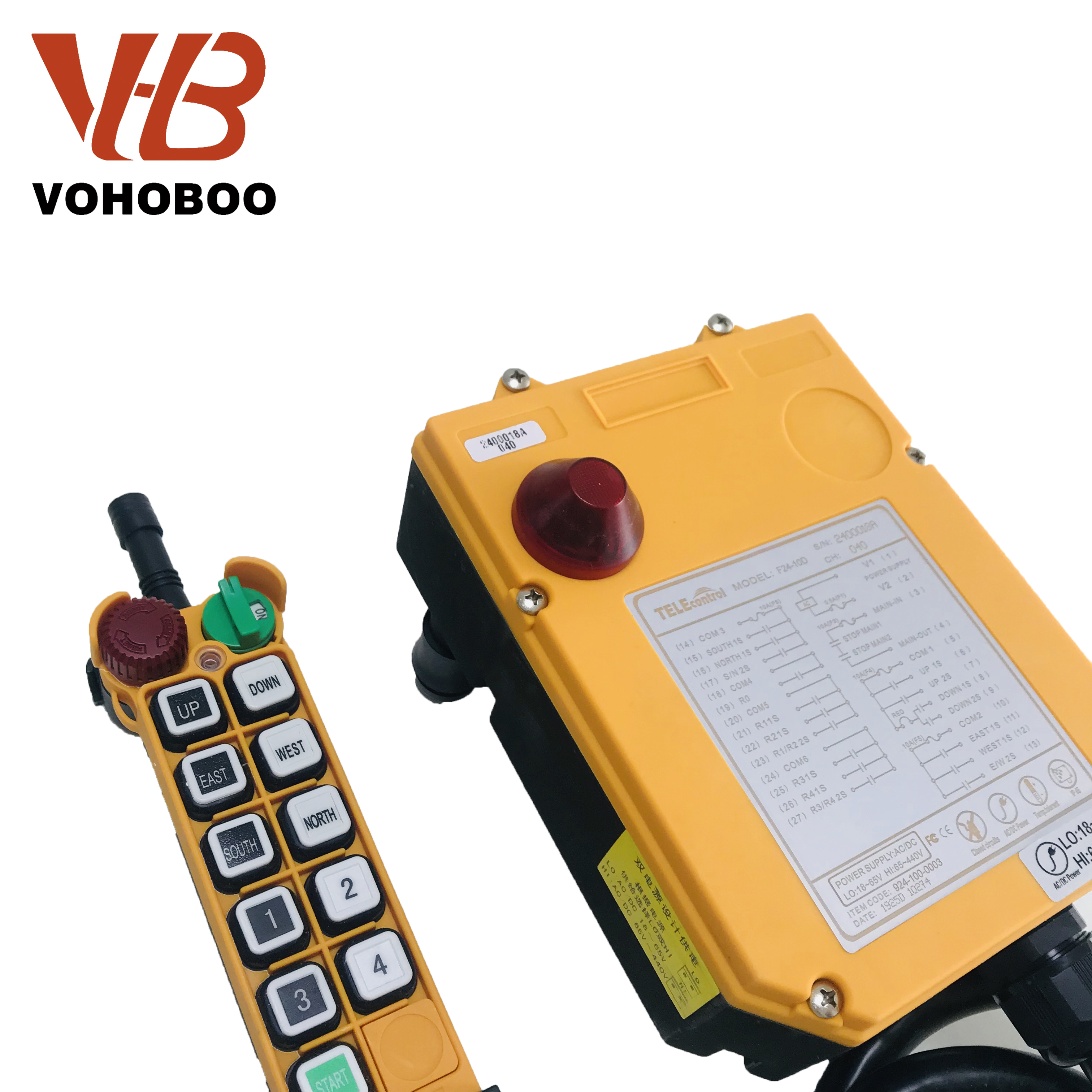 Crane Radio Transmitter dan Receiver: F24-10D Remote Control Switch