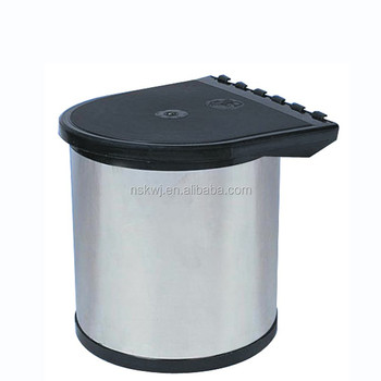 Kitchen use trash bin 8L cut waste trash can built in cupboard