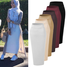 コットンスカートfaldas mujer moda 2018 uae abaya dubai kaftan long muslim skirt dress women musulman arab turkish islamic clothing