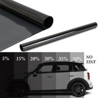 UV400-15100 IRR99% UVR100% Dark Black anti-glare Nano Ceramic car window solar film accept OEM