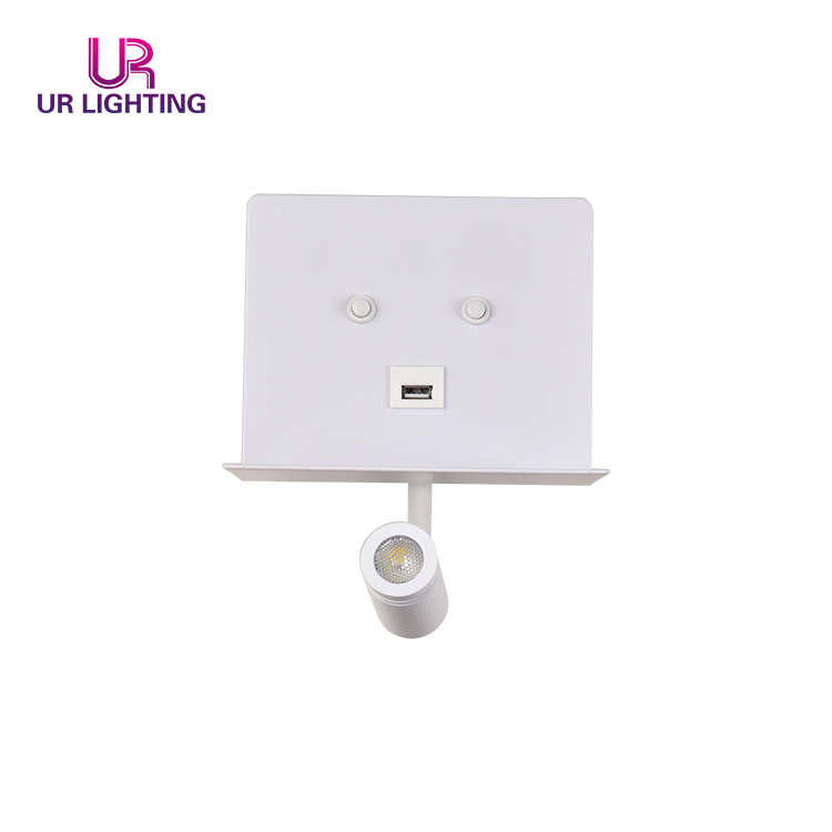 New Design SMD COB Decoration Bedroom Modern Indoor LED Wall Light With USB Recharge