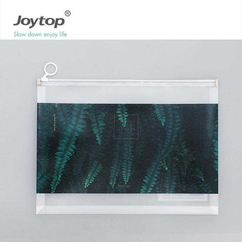 Joytop Leaves of grass PP file folder A4 file organizer plant design bag with zipper 6393