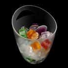 LED light plastic ice bucket PC unbreakable material