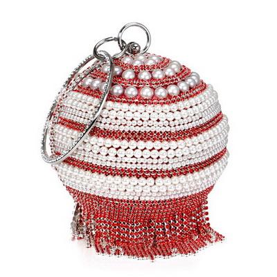 SEKUSA/женские вечерние клатчи с кисточками из страз, украшенные бриллиантами и металлическими кристаллами; вечерняя Свадебная сумка; Свадебн...(Китай)