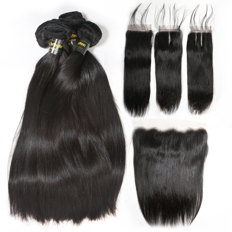 JP Free sample top quality brazilian virgin <strong>hair</strong> 3 bundles with closure, wholesale raw human <strong>hair</strong> 3 bundles with frontal