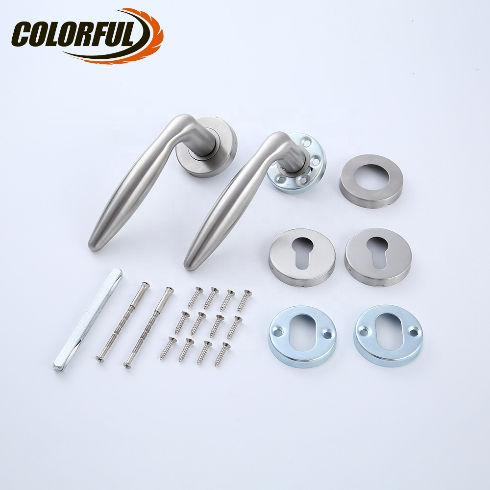 Good quality 304 stainless steel furniture hardware modern generic hollow interior door handle