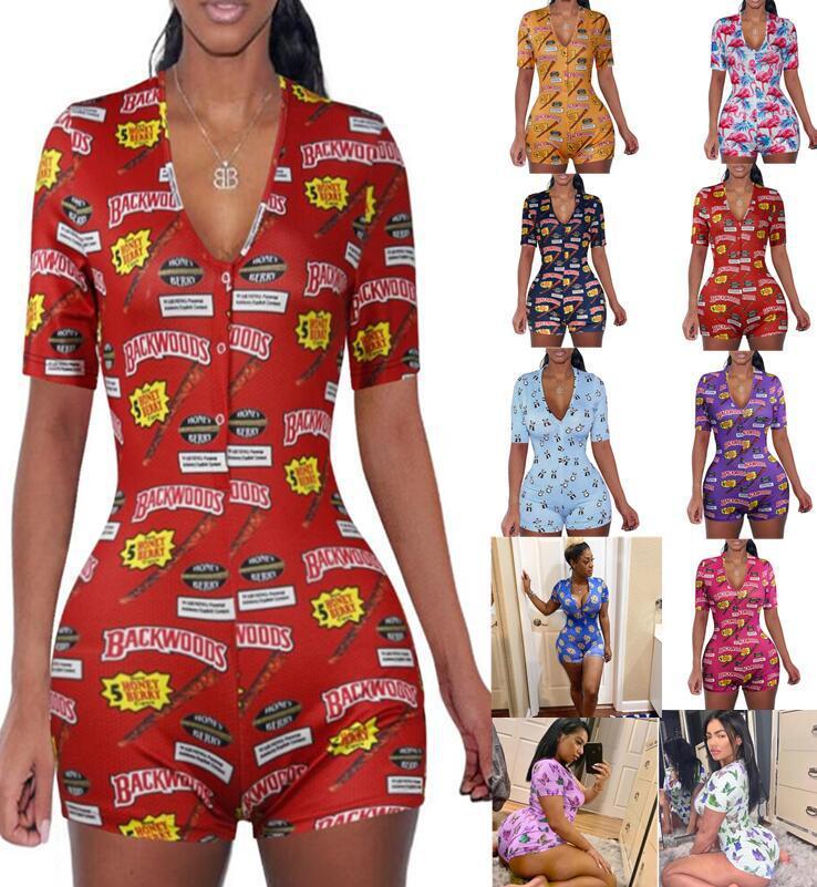 Onsie Onesie Desainer Grosir Populer Baju Tidur Wanita Piyama Kasual Dewasa Jumpsuit Cetak Kustom Malam Onsie untuk Wanita