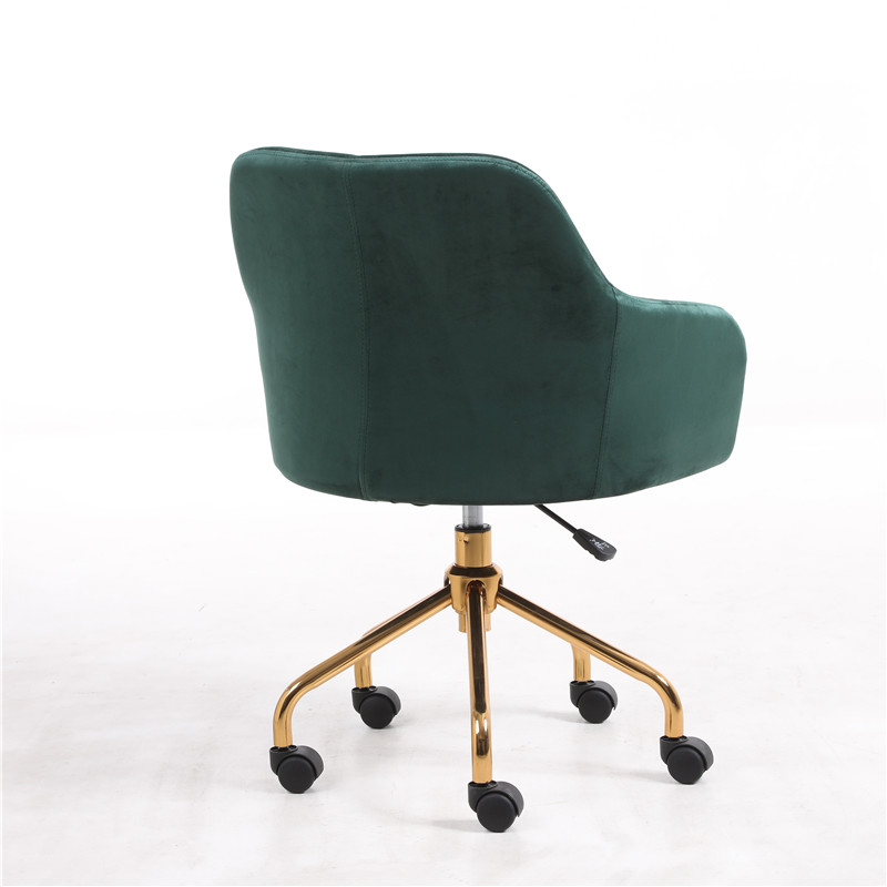 Modern Velvet cover with armrest Swivel Desk Chair with Wheels Office , Living Room Furniture