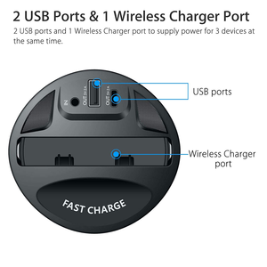 new product ideas 2020 Newest Qi Wireless Charger car Cup Holder,10W 7.5W Magnetic Mount with USB Type C Port for cell phone