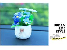 Украшение для автомобиля, украшение для автомобиля, цветочный горшок, хризантема, роза, лаванда, украшение интерьера автомобиля, аксессуары...(Китай)
