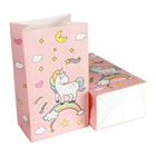 OurWarm Unicorn Birthday Pink Party Decoration Unicorn Paper Candy Gift Box Bags Kids Party Favors