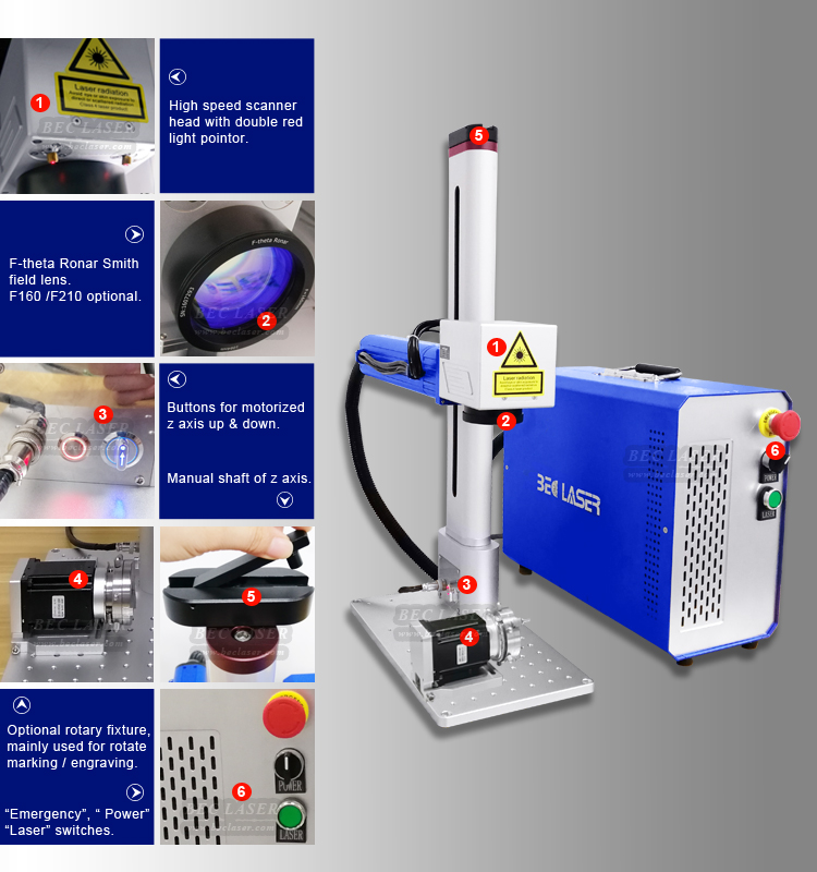 QR code 30w rotary device for imei small enclosed jewelry metal jpt fiber laser marking machine enclosure 20w for steel