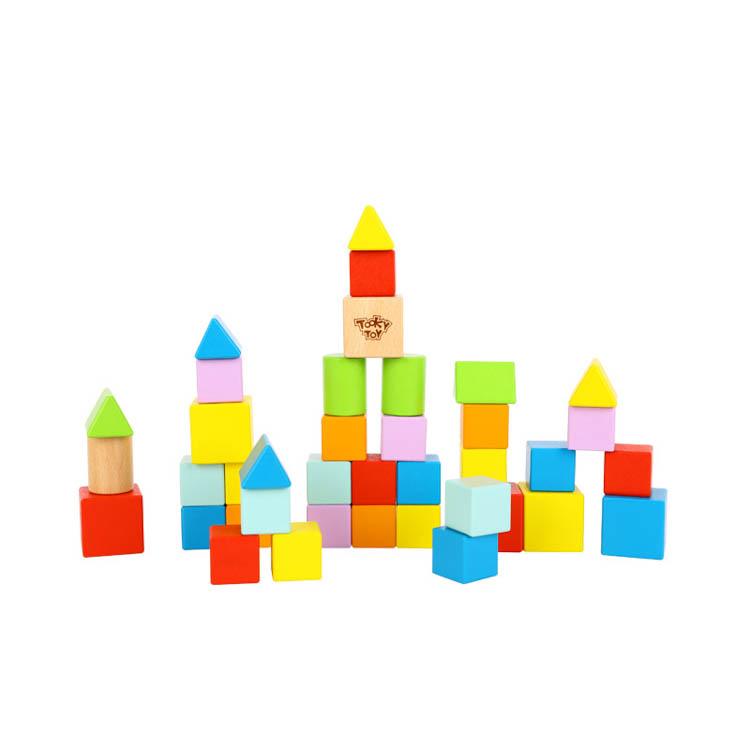 नई बच्चों 39pcs ब्लॉक लकड़ी के खिलौने