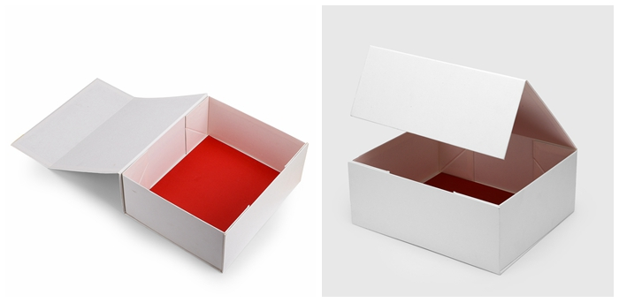 custom book shaped style paper packaging magnetic gift box with ribbon