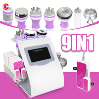 9 In 1 Multifunction Beauty Machine/ Lipolaser/ Cavitation/ Vacuum/ Rf Slimming Beauty Machine